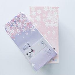 Wrapping Paper Gift Sets Australia - 6pcs set Fantastic Sakura Floral Paper Envelope Gift Wrap DIY Tool Greeting Card Cover Giftbox Decor Letter Writing