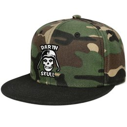 Skull Cap Ball UK - MISFITS Darth Skull green camouflage for men and women hip-hop baseball cap design designer golf sports fitted personalized trendy personal