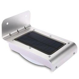 Solar Energy Saving Bulbs NZ - 16 LEDs Solar Motion Light Energy Saving Infrared Sensor Wall Lamp Outdoor Wireless Solar Powered PIR Motion Sensor Garden Lamps