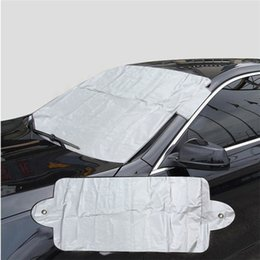 front end car UK - Prevent Snow Ice Sun Shade Dust Frost Freezing Car Windshield Cover Protector Cover Universal for Auto