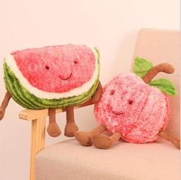 Beautiful Creative Simulation Watermelon Pillow Cushion Fruit Slice Funny Doll Grapefruit Plush Orange Stuffed Pillow Kiwi Plush Cushion Dolls & Stuffed Toys Stuffed & Plush Plants