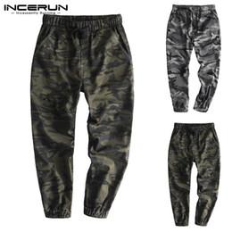 Drawstring Trousers Australia - Fashion Camouflage Pants Men Loose Cotton Hiphop Drawstring Joggers Streetwear Trousers Men Bodybuilding Sweatpants 2019 INCERUN