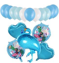 $enCountryForm.capitalKeyWord Australia - 18 Inch Full Set the Flamingos Bird Wedding Love Balloons 10 Inch Ball Balloons Wedding Decoration Supplies 10 Sets  pack