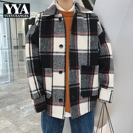 987348b704 Plus Size Mens Plaid Jacket Australia - 2018 New Autumn Winter Male Casual  Coat Fashion Plaid