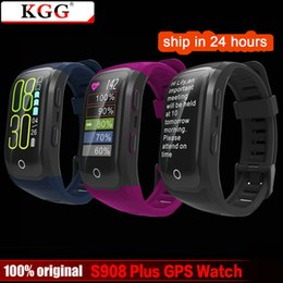 Gps Ratings Australia - S908 smartwatch Plus Color Screen GPS Smart Wristband Heart Rate Pedometer IP68 Waterproof Smart Watch with Touch Key Bracelet
