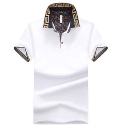 Wholesale Hot Sales Shirt Luxury Design Men Summer Turn Down Collar Short Sleeves Cotton Shirt Male Top
