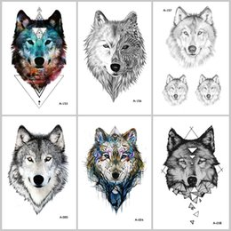 a90c83e6a54f2 Tattoos Wolves Canada - WYUEN Hot Design Wolf Temporary Tattoo for Women  Body Art Animal Waterproof