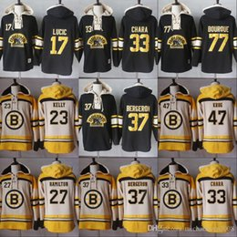 man milan jersey Australia - 2018 Men Hoodies 77 Ray Bourque 17 Milan Lucic 33 Zdeno Chara 37 PatriceBergeron Boston Bruins Hoodies Jerseys Sweatshirts