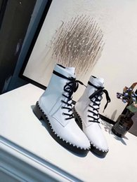 design boots snow Australia - Hot 2019 Autumn And Winter Women Boots Original Design And Anti-skidding Snow Boots Genuine Leather Martin Boots R77100