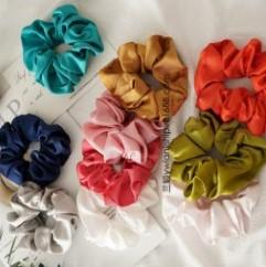 Hair band material online shopping - 11 Color Women Girls Silk Material Sweet Bright color Elastic Ring Hair Ties Accessories Ponytail Holder Hairbands Rubber Band Scrunchies