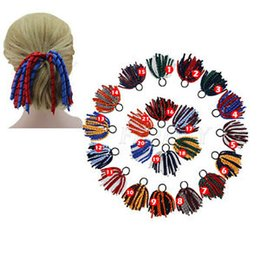 "$enCountryForm.capitalKeyWord Australia - HOT SALE 12pcs 5"" hairband solid O A-korker Ponytail curl tassel korker ribbons streamers curly ribbon hair bows with elastic hair rope"