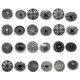 $enCountryForm.capitalKeyWord Australia - Cheap Buttons Hoomall 20 50PCs Silver Tone Metal Shank Buttons For Needlework Hollow Pattern Carved Jean Button For Clothes Sewing Jean 18mm