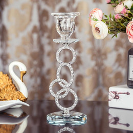silver stick candle holder Canada - Silver Crystal Tealight Candle Holder Coffee Dining Table Stick Candle Holder Wedding Christmas Halloween Home Decor