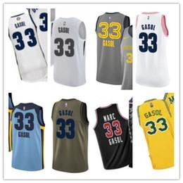 a9781bbede76 custom 2019 Memphis Grizzlie Jerseys  33 Marc Gasol Jerseys men WOMEN YOUTH Men s  Baseball Jersey Majestic basketball jersey