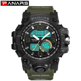 Brand Luxury Style Watch Australia - PANARS Digital Men Watches Watch G Style Luxury S Brand Shock Waterproof Fitness Sport Water Resistant Wristwatch