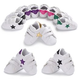 Infants Walkers NZ - 5Color Baby Shoes Toddler Infant Baby Girls Boys Star Print Shoes Soft Sole Anti-slip Sneakers Baby First Walker Shoes JE21#F