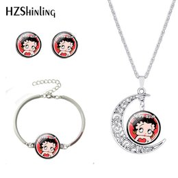 $enCountryForm.capitalKeyWord Australia - 2019 New Fashion Sexy Pattern Necklace and Bracelet Earrings Glass Dome Handmade Jewelry Best Gift For Girls