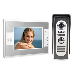 Screen Tft Lcd UK - Practical 7-inch TFT HD LCD screen video intercom doorbell Rainproof Low-power with night vision infrared function