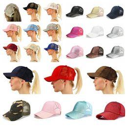26 color Glitter Ponytail breathable mesh baseball cap men s ladies bag  summer truck Gorras shiny gold shining ladies hat e2538b0db6b0