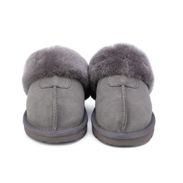 wool winter slipper NZ - HABUCKN Natural Fur Fashion Female Winter Women Warm Indoor Slippers Quality Soft Wool Lady Home Shoes Y200424
