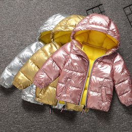 Jacket design girl online shopping - Winter toddler boy girls outfits clothing warm coat jacket for boys girls clothes fashion design hooded cotton coat outerwear