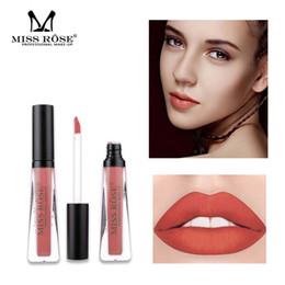 $enCountryForm.capitalKeyWord Australia - MISS ROSE Waterproof Makeup Lipstick Hyaline Tube Long Lasting Lip Glaze Women Non-Stick Cup Matte Lipgloss make up Lipsticks
