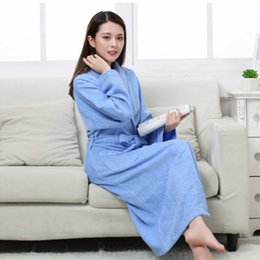 Women Men Cotton Terry BathRobes all seasons couple Robe hotel bathrobe  soft breathable absorbent sleepwear Night-gown hombre b79e8d757