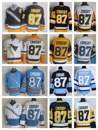 Crosby winter jersey online shopping - Top Quality Vintage Sidney Crosby Jerseys Pittsburgh Mens Winter Classic Sidney Crosby Hockey Jersey Stitched Shirts C Patch