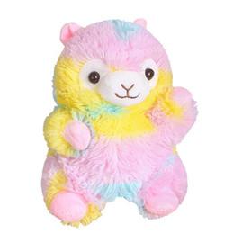 $enCountryForm.capitalKeyWord Australia - Rainbow Alpaca Plush Toys Kawaii Alpacasso Stuffed Toys Japanese Plush Doll Toys Children gift 20cm Janpanese Animal White Sheep Plush Toy
