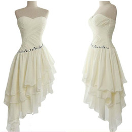 Asymmetrical Dresses Cheap Australia - Simple Style Asymmetrical Bridesmaid Dresses Short Cheap Custom Made Maid Of Honor Dress Sweetheart Chiffon Formal Party Gowns
