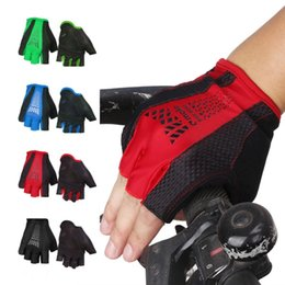 Wholesale Brand New bicycle cycling gloves half finger bike gloves for men women breathable bycicle glove