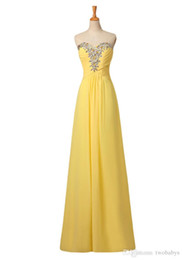 $enCountryForm.capitalKeyWord UK - Simple elegant yellow Prom dresses ZAHY 100% Real Picture Sweetheart beaded Chiffon vestidos Party Dresses Formal Gown