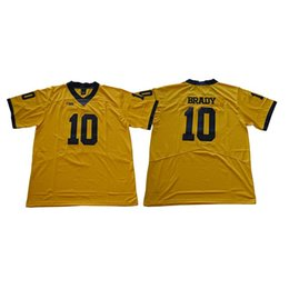 9f77417ecac4 Mens Michigan Wolverines Tom Brady Stitched Name Number Legend American College  Football Jersey Size S-3XL