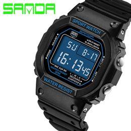$enCountryForm.capitalKeyWord Australia - SANDA Simple Big Dial LED Digital Watch Men Women Couple Sport Wristwatch Retro Fashion Waterproof Lover Clock Unique Gift