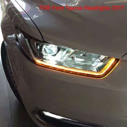 ford led headlights Australia - Car Styling Head Lamp for Ford Taurus 2017 Headlights LED Headlight DRL Lens Double Beam Bi-Xenon HID Auto Accessories