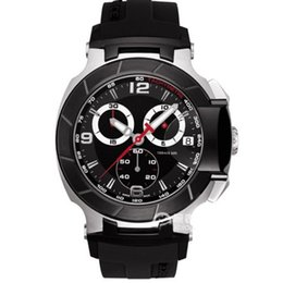 mens watches chronograph UK - T048.417.27.057.00 Mens Watch Fashion Sports Military Watches T048 Chronograph Mens Quartz Wristwatches Waterproof T-Race Watch Top Brand