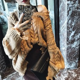 Wholesale tassel knit sweater for sale - Group buy TVVOVVIN New Spring Knitting Tops Round Collar Long Sleeve Personality Tassels Vintage Fashion Women Casual Sweater B741