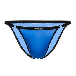 efb07ad10077 Men Briefs Sexy Underwear Adjust One size Suit Breathable Underpants Men  Briefs Polyester Cozy Bikini Briefs