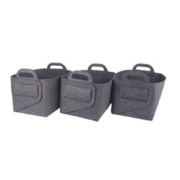 Clothing room online shopping - Clothing Toys Storages Baskets Household Hotel Room Sundries Storage Basket Customizable Color Felt Store Bag Creative lk L1