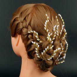 Hair Forks Australia - New Fashion U-shaped Hairpin Handmade Pearl Bridal Hairpins Bridal Head Jewelry Beaded Hair Fork Wholesale Wedding Accessories
