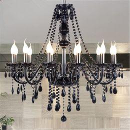 $enCountryForm.capitalKeyWord NZ - 2019 New Modern Black crystal chandeliers lighting for Livingroom Bedroom indoor lamp K9 crystal lustres de teto ceiling chandelier