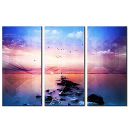 $enCountryForm.capitalKeyWord UK - Format Creative Seascape Decorative Painting wall Decorations for Living Room Simple Life Painting Canvas Wall Art for Gift