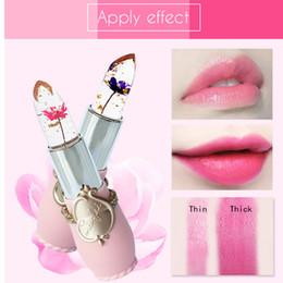 $enCountryForm.capitalKeyWord Australia - Fashion Makeup Moisturizer Long Lasting Jelly Flower Transparent Lipstick Makeup Temperature Changed Color Lipstick Beauty Set