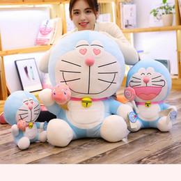 Cat Doraemon Doll Australia - 1pc Sweet Cute Doraemon Plush Toys Soft Cartoon Animal Cat Stuffed Doll Girlfriends Birthday Gifts Girls Bedroom Decoration Doll