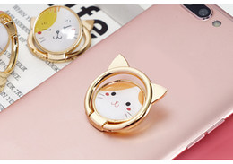 $enCountryForm.capitalKeyWord Canada - Phone Holder 360 Degree Ring Lovely cat Cell Phone Alloy Metal Ring Card Holders Mounts for iphone samsung with retail packaging