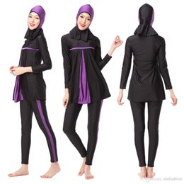 $enCountryForm.capitalKeyWord NZ - Swimwears Women Swimming Clothes New Muslim Ladies Long Sleeve Swimsuit Islamic Full Cover Conservative Bathing Suits