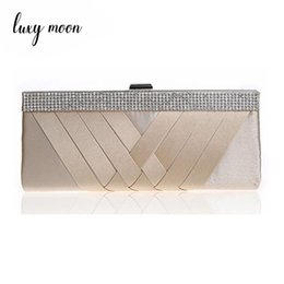 mini gold coins UK - New Luxury Evening Bag Woman Party Clutches Elegant Diamond Silk Shoulder Evening Bags For Women