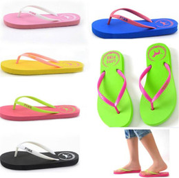 $enCountryForm.capitalKeyWord Australia - Summer Love Pink Flip Flops 7 Colors Beach Pools Slippers Shoes For Women Casual PVC Home Bath Sandals B11