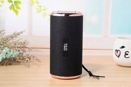 Pink Portable Speaker Australia - Wholesale TG153 fabric sports subwoofer wireless bluetooth speaker double diaphragm outdoor portable Bluetooth TF card audio speaker gifts