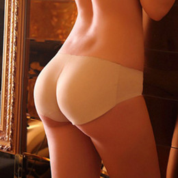 buttock hip up panty NZ - Women Soft Seamless Sexy Panty Knickers Buttock Backside Silicone Bum Padded Butt Enhancer Hip Up Underwear